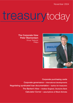 Treasury Today November 2004 magazine cover