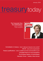 Treasury Today January 2005 magazine cover