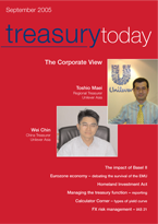 Treasury Today September 2005 cover