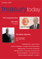 Treasury Today October 2005 magazine cover