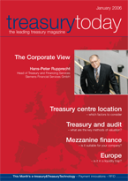 Treasury Today January 2006 magazine cover