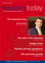 Treasury Today February 2006 magazine cover