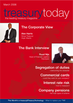 Treasury Today March 2006 magazine cover