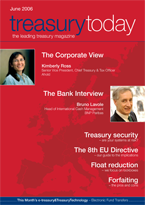 Treasury Today June 2006 magazine cover