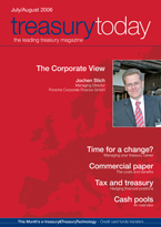 Treasury Today July/August 2006 magazine cover