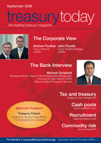 Treasury Today September 2006 magazine cover
