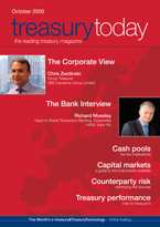 Treasury Today October 2006 magazine cover