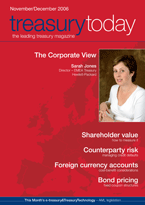 Treasury Today November/December 2006 magazine cover