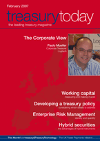 Treasury Today February 2007 magazine cover
