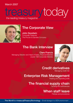 Treasury Today March 2007 magazine cover