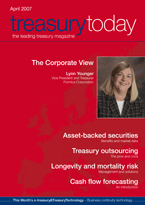 Treasury Today April 2007 magazine cover