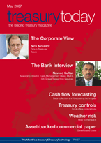 Treasury Today May 2007 magazine cover