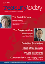 Treasury Today June 2007 magazine cover