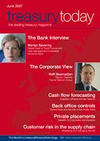 Treasury Today June 2007 magazine cover