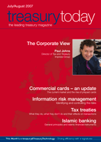 Treasury Today July/August 2007 magazine cover