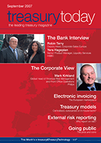 Treasury Today September 2007 magazine cover