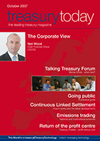 Treasury Today October 2007 magazine cover