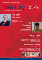 Treasury Today November/December 2007 magazine cover
