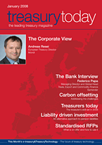 treasurytoday Magazine January 2008 cover