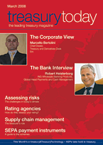 treasurytoday Magazine March 2008 cover