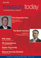 treasurytoday Magazine May 2008 cover