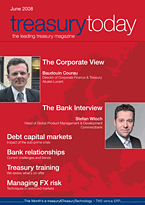 treasurytoday Magazine June 2008 cover