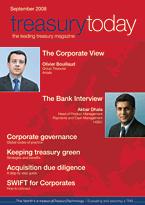 treasurytoday Magazine September 2008 cover