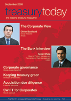 treasurytoday Magazine September 2008 cover