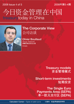 Treasury Today in China Issue 4 2008 magazine