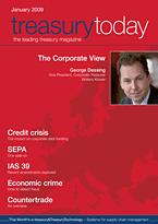 treasurytoday Magazine January 2009 cover