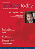 treasurytoday Magazine January 2009 cover