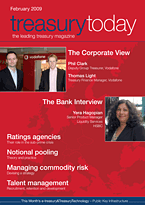 treasurytoday Magazine February 2009 cover