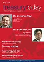 treasurytoday Magazine May 2009 cover