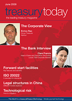 treasurytoday Magazine June 2009 cover