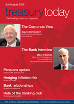 treasurytoday Magazine July/August 2009 cover
