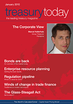 treasurytoday Magazine January 2010 cover