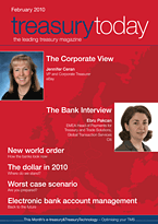 treasurytoday Magazine February 2010 cover