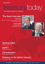 treasurytoday Magazine June 2010 cover