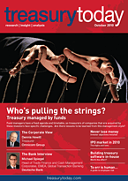 treasurytoday Magazine October 2010 cover