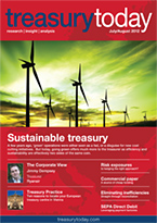 treasurytoday July/August 2012 magazine cover