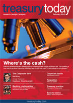 Treasury Today February 2013 magazine cover