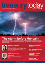 Treasury Today September 2013 magazine cover