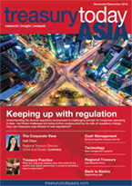 Treasury Today Asia November/December 2016 magazine cover