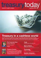 Treasury Today May/June 2018 magazine front cover