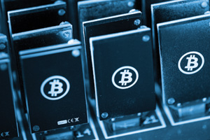 Electronic currency bitcoin in USB slots