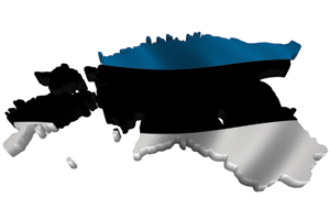 Map/flag of Estonia
