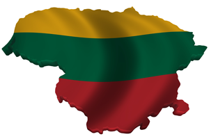 Map/flag of Lithuania