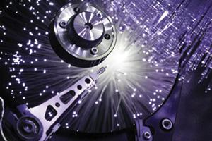 Computer hard disk and opitcal fibers