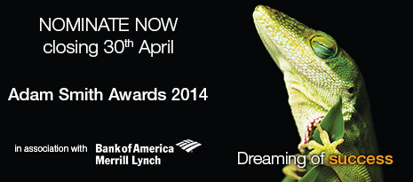 Adam Smith Awards 2014 - Nominate now, closing 30th April
