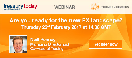 Thomson Reuters webinar – Are you ready for the new FX landscape? Register now